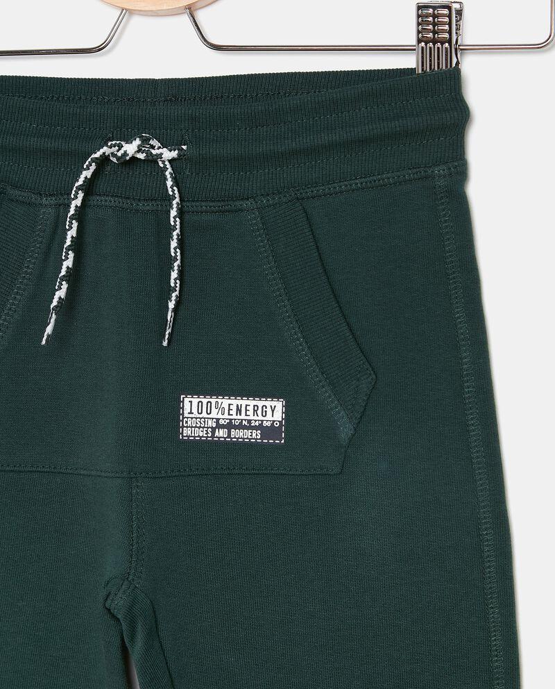 Pantaloni in tinta unita puro cotone biologico bambino single tile 1