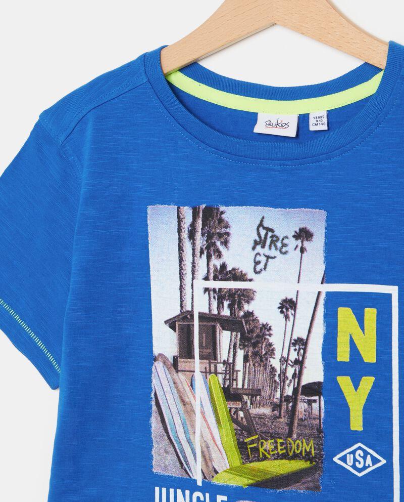 T-shirt in puro cotone con stampa città ragazzo