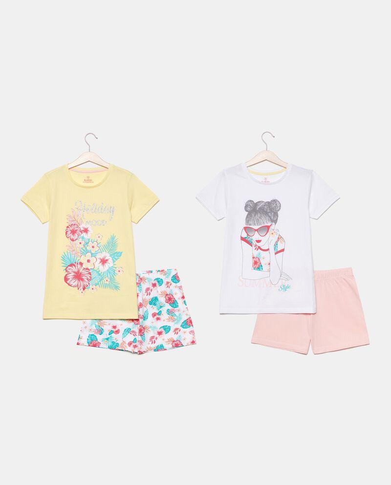 Bipack 2 pigiami corti di cotone organico ragazza