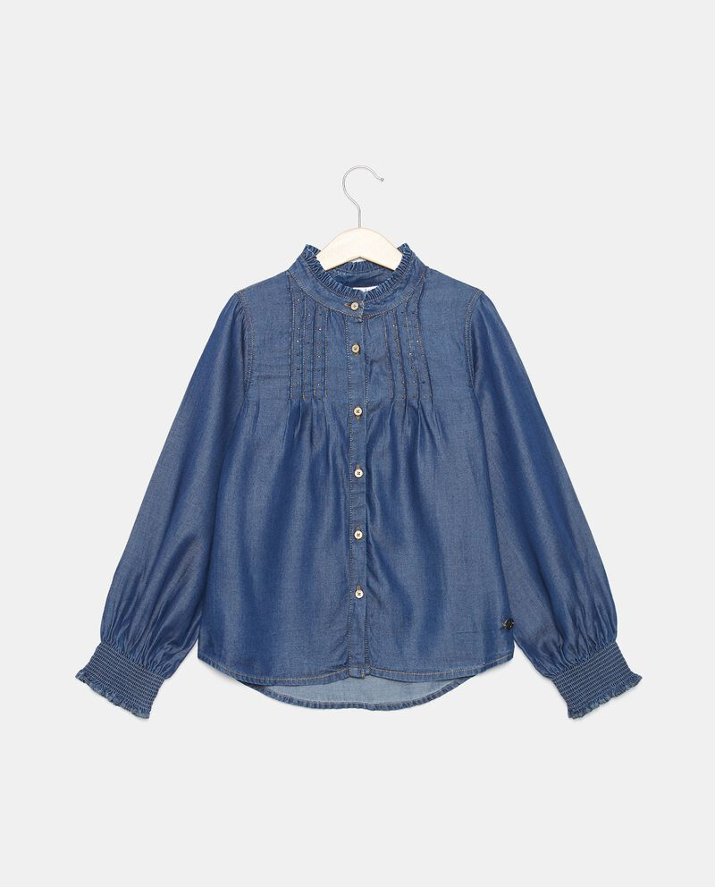 Camicia in lyocell con borchiette bambina cover