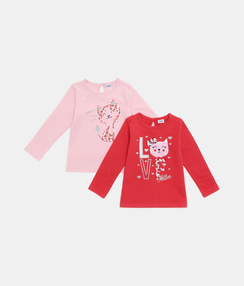 Bipack t-shirt in puro cotone neonata