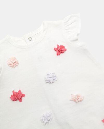 Pagliaccetto tinta unita con fiorellini