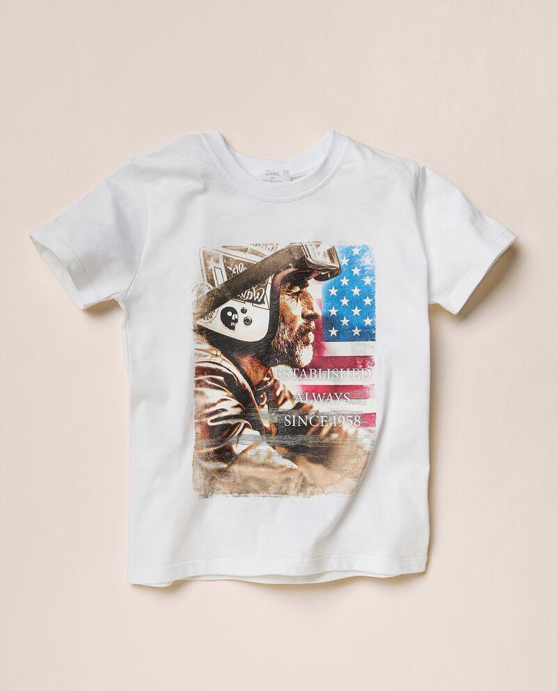 T-shirt con stampa di cotone organico jersey cover