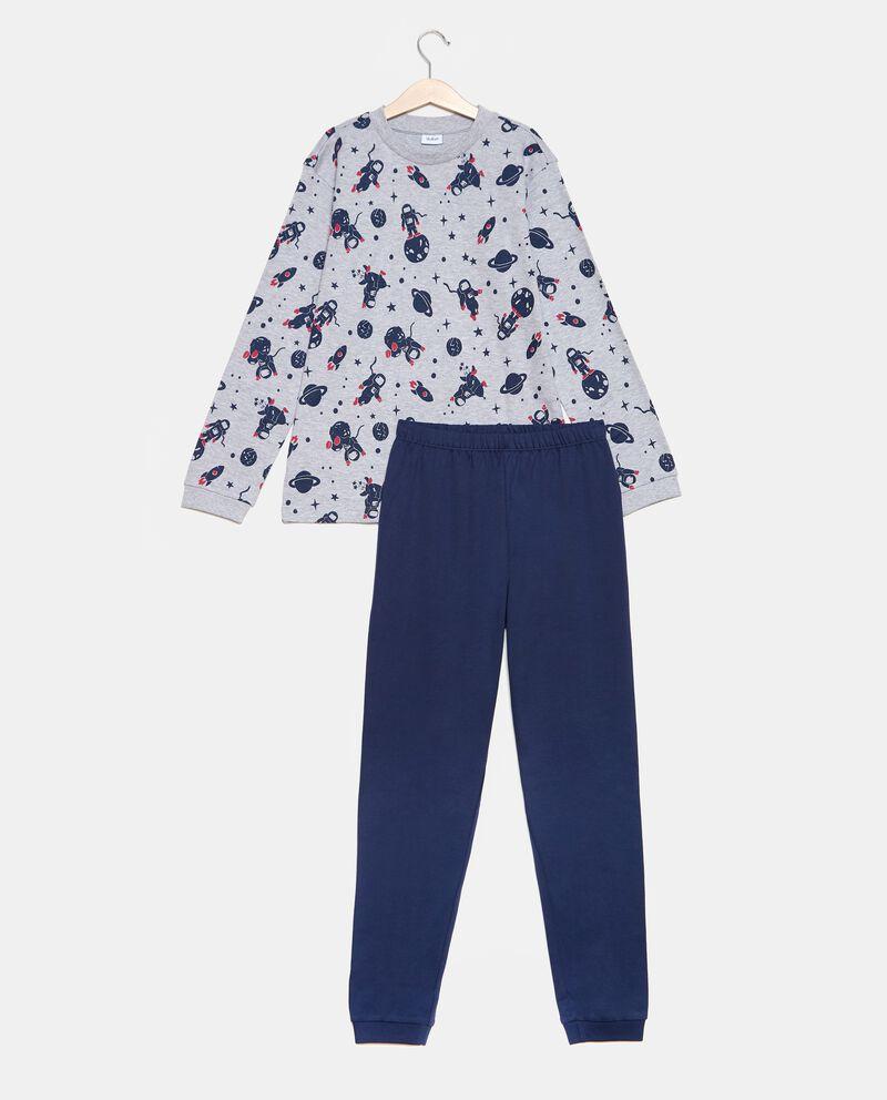Set pigiama t-shirt con fantasia e pantaloni ragazzo