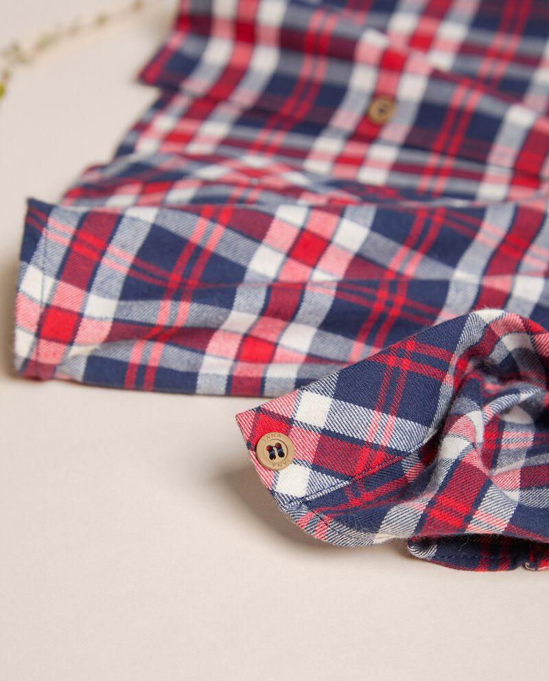 Camicia in tartan di vaiella in cotone IANA Made in Italy single tile 1