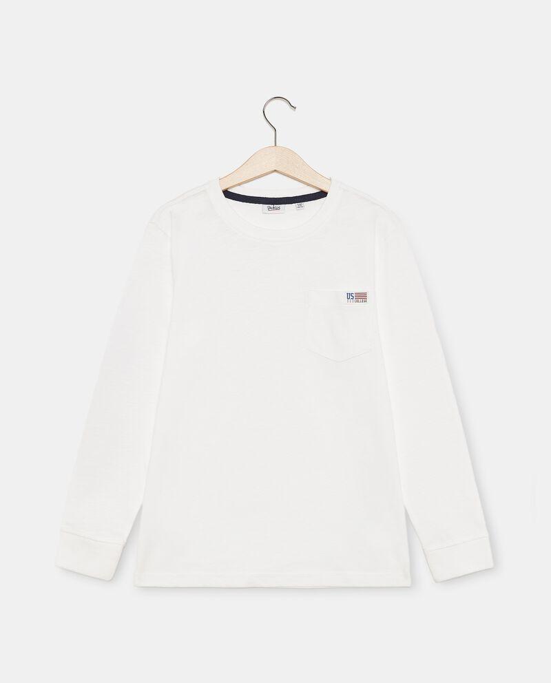 T-shirt di cotone organico con taschino ragazzo cover
