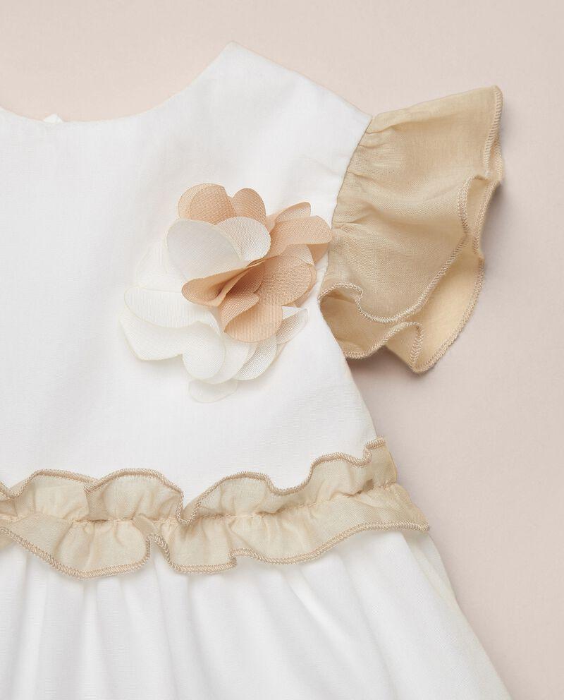 Vestito in popeline di cotone con maniche arricciate MADE IN ITALY single tile 1
