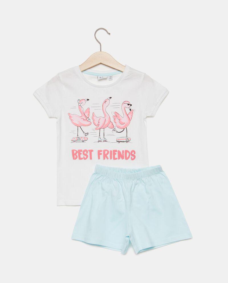 Set pigiama fenicotteri in puro cotone bambina