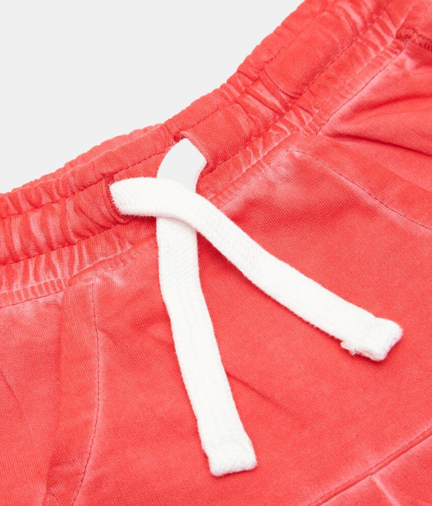 Shorts di felpa in cotone organico neonato double 2