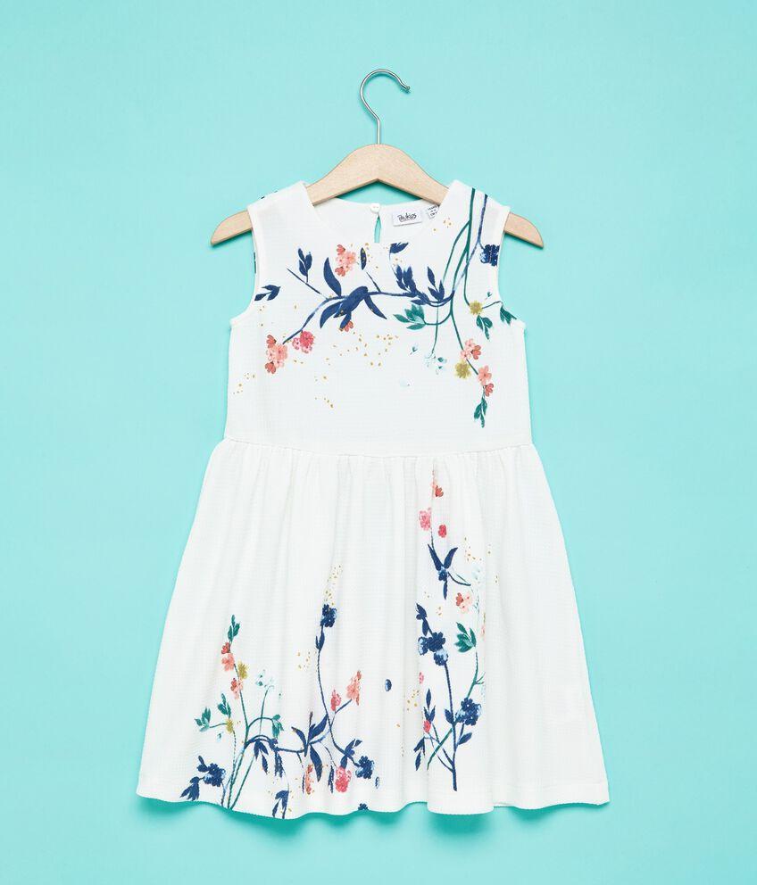 Vestito smanicato con disegno floreale bambina