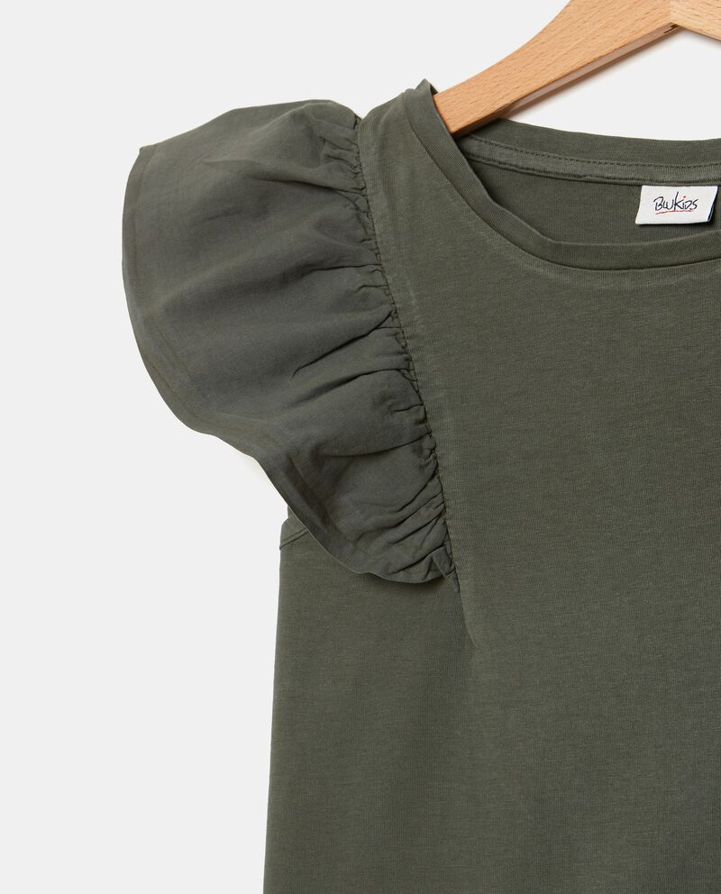T-shirt in cotone organico con alette ragazza