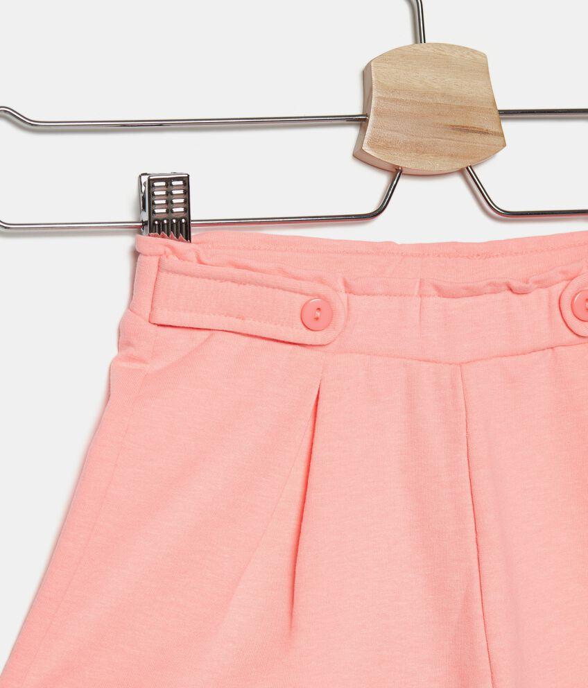 Shorts tinta unita di cotone stretch bambina