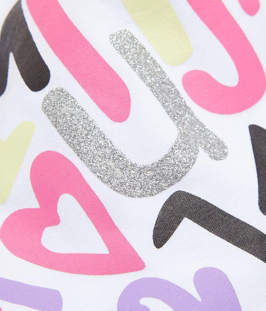 Berretto in cotone elastico con lettering
