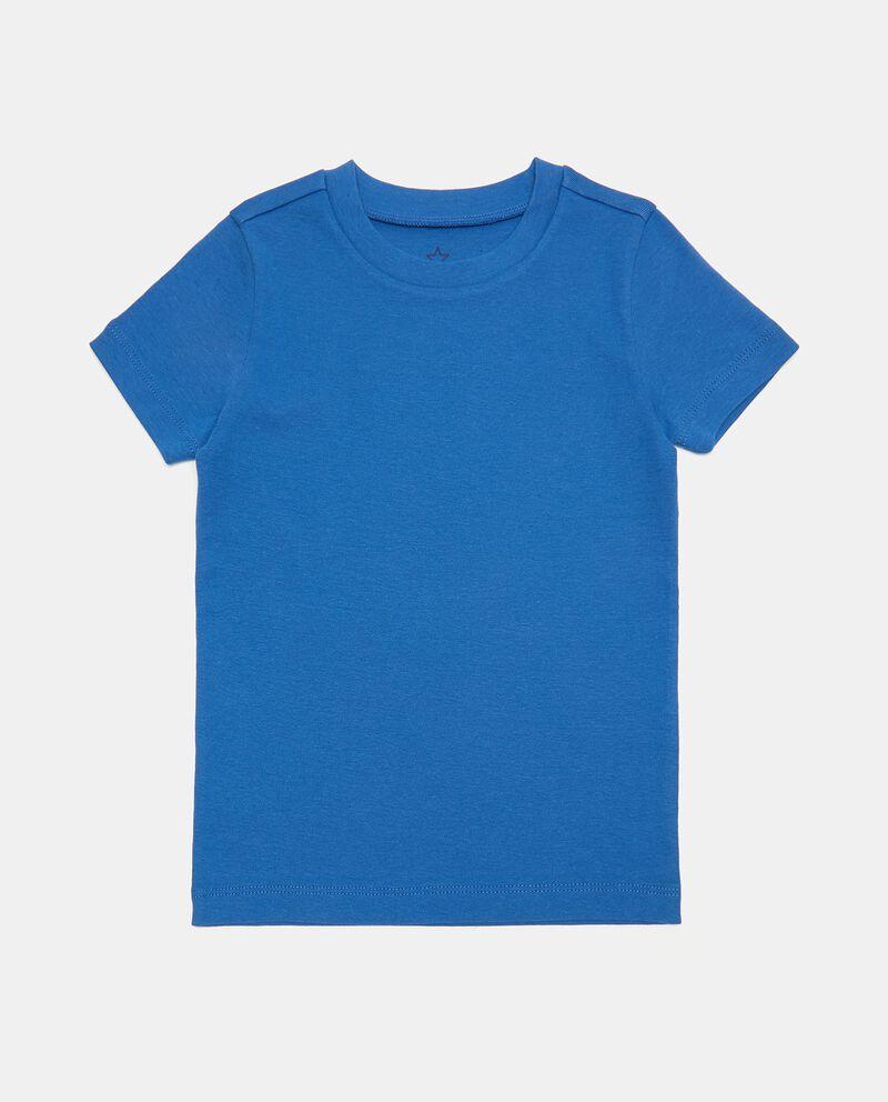 Pack 5 t-shirt in costina puro cotone bambino single tile 1
