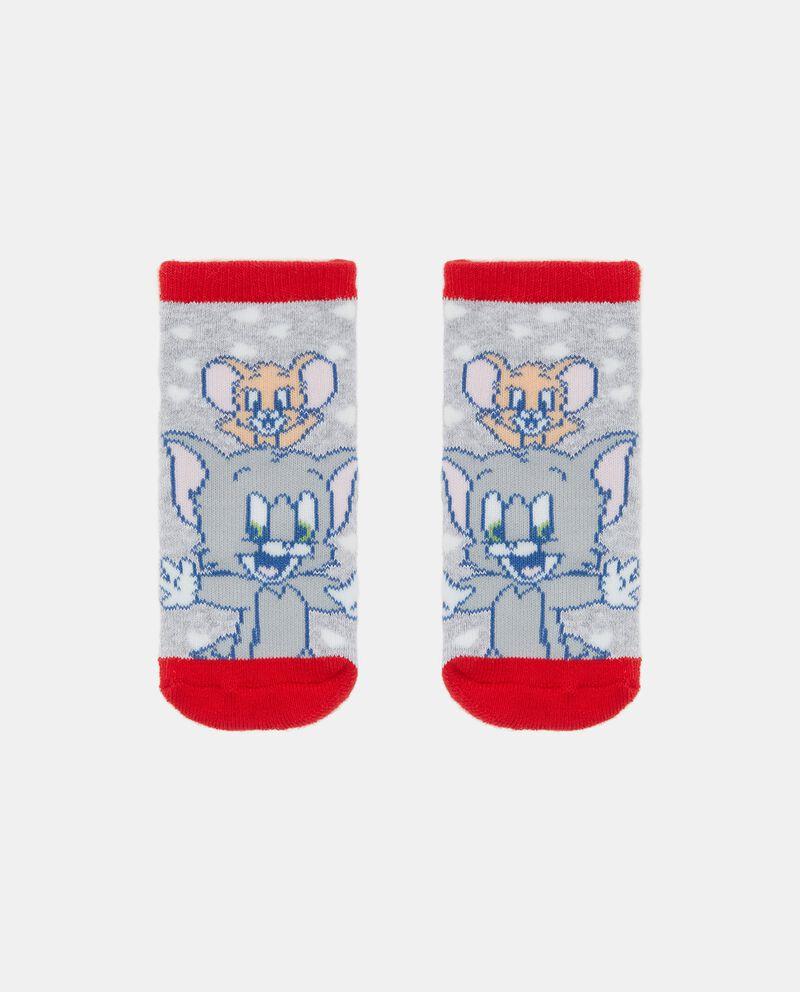 Calzini antiscivolo stampa Tom & Jerry in cotone biologico