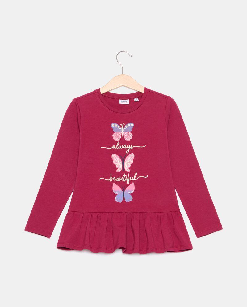 T-shirt con balza di cotone organico bambina cover