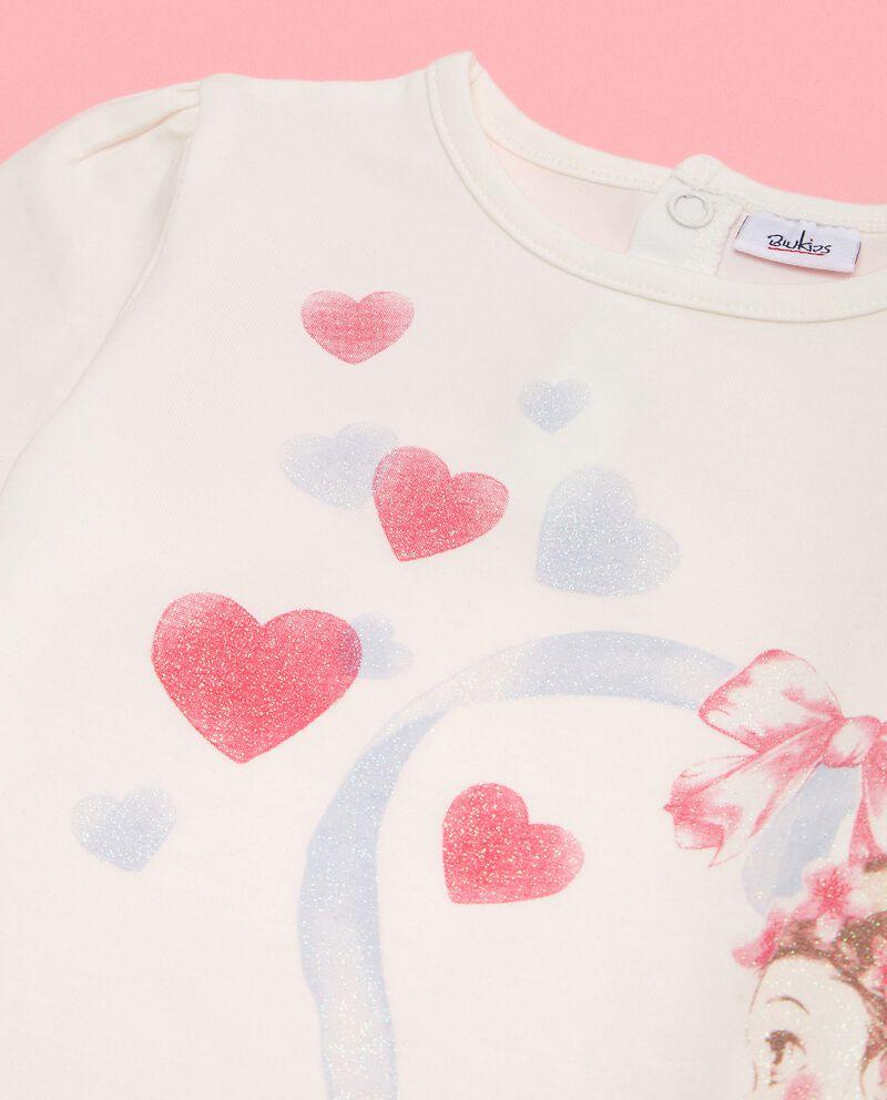 Maglia in cotone biologico con stampa neonata