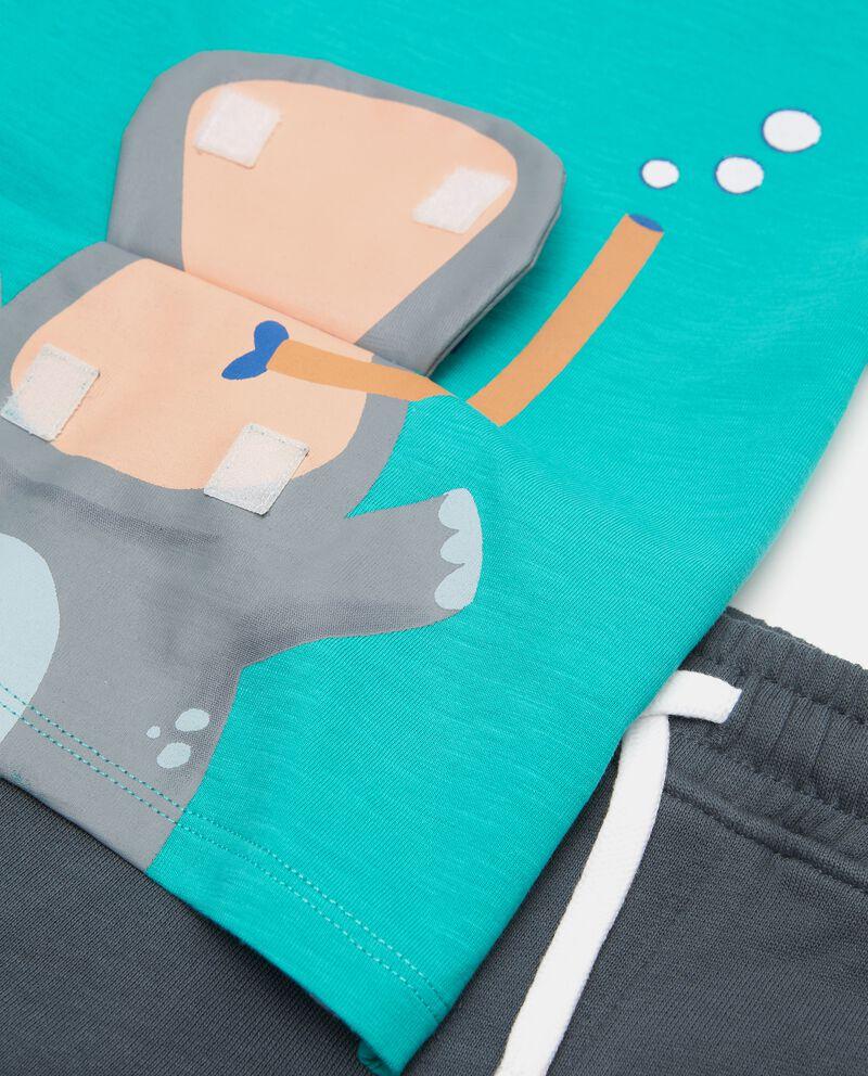 Jogging set di jersey cotone organico neonato single tile 1
