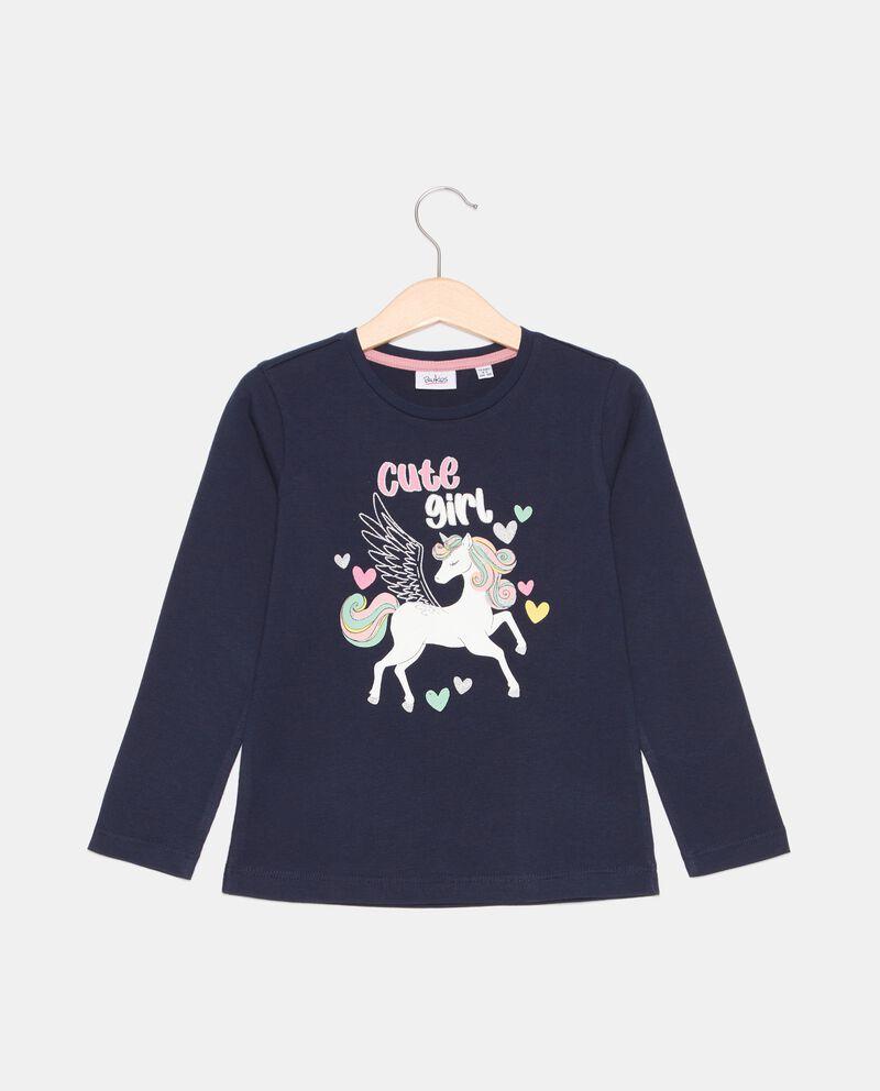 T-shirt stampata in cotone organico bambina cover