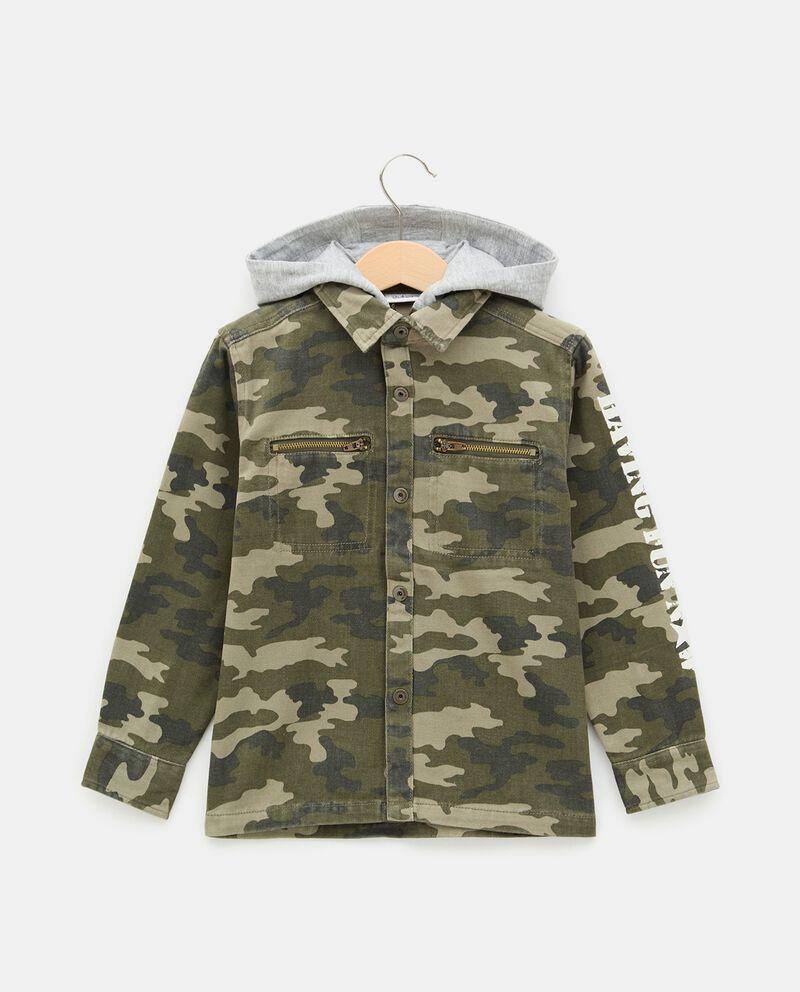 Camicia con stampa camouflage e cappuccio bambino cover