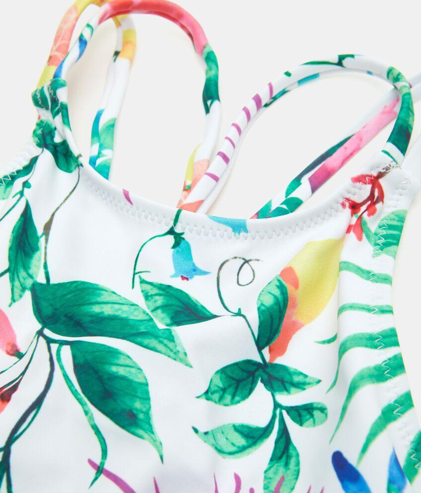 Costume intero con fantasia tropicale