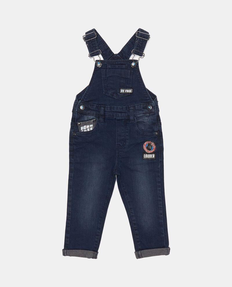 Salopette di jeans con patch