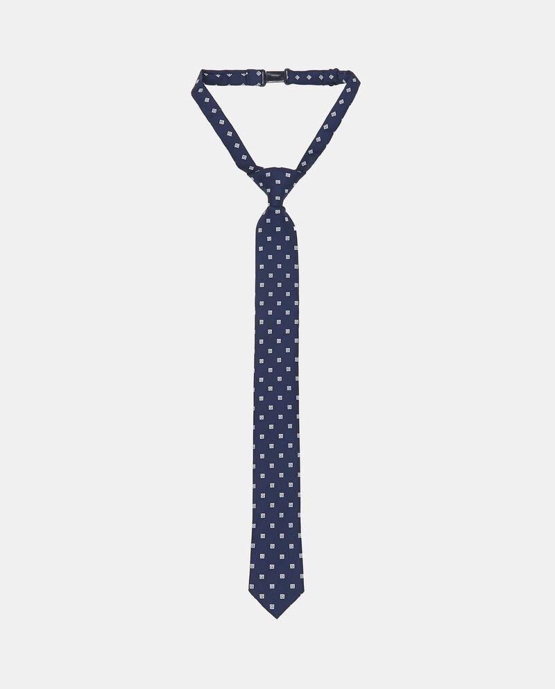 Cravatta con ricami all-over a quadri
