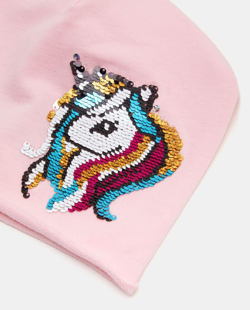 Cappello con unicorno in paillettes