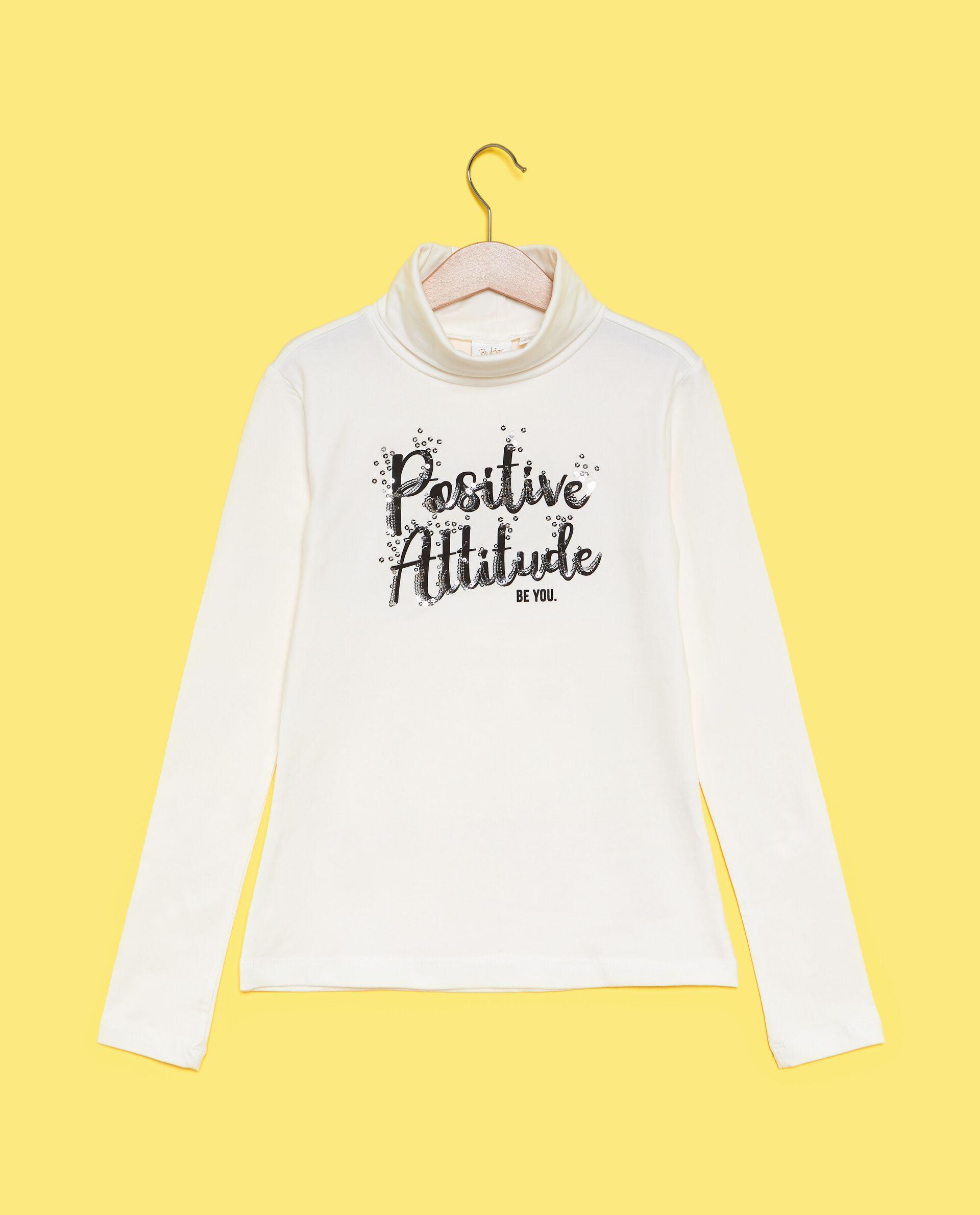 Maglietta a collo alto con lettering ragazza