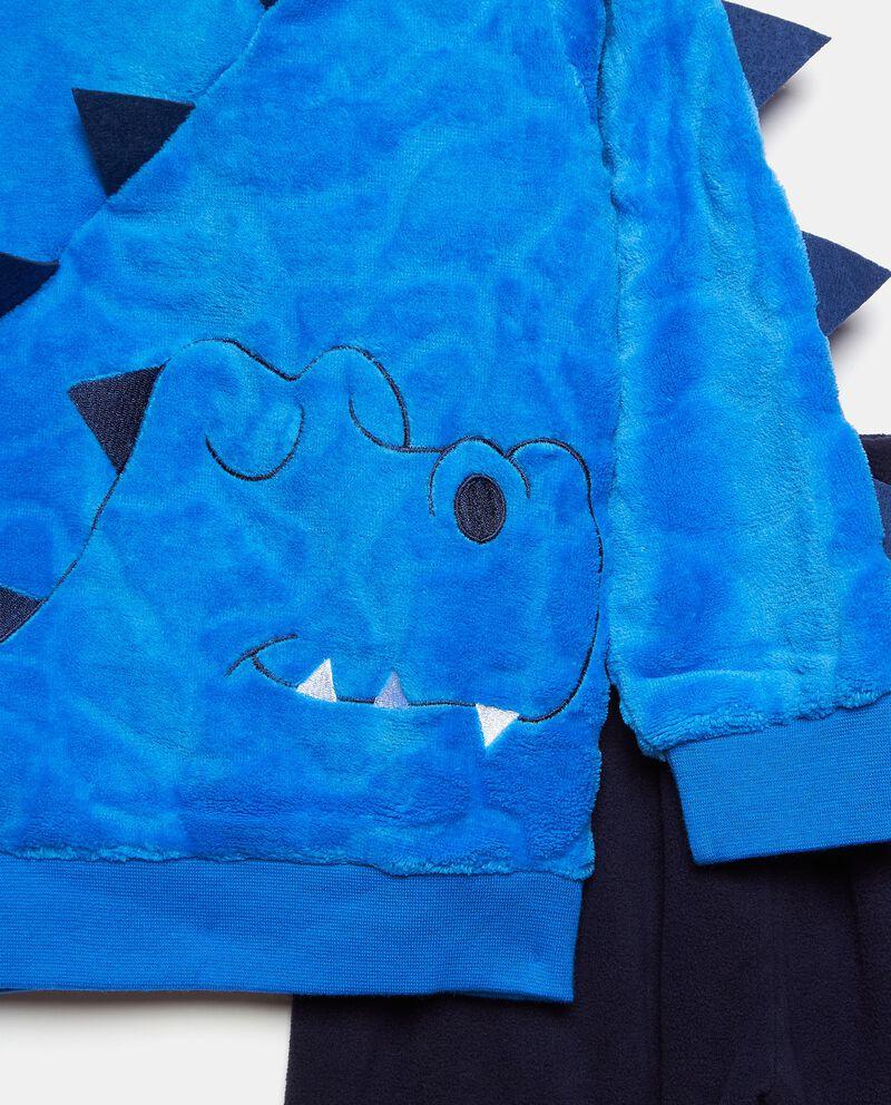 Set pigiama con maglia morbida e pantaloni tinta unita