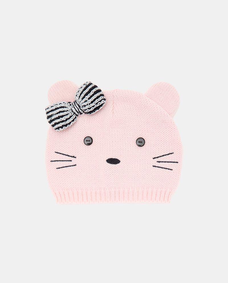 Berretto tricot con fiocco neonata cover