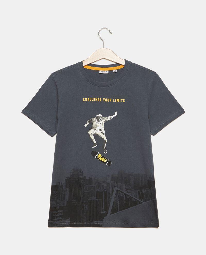 T-shirt puro cotone con stampa ragazzo cover