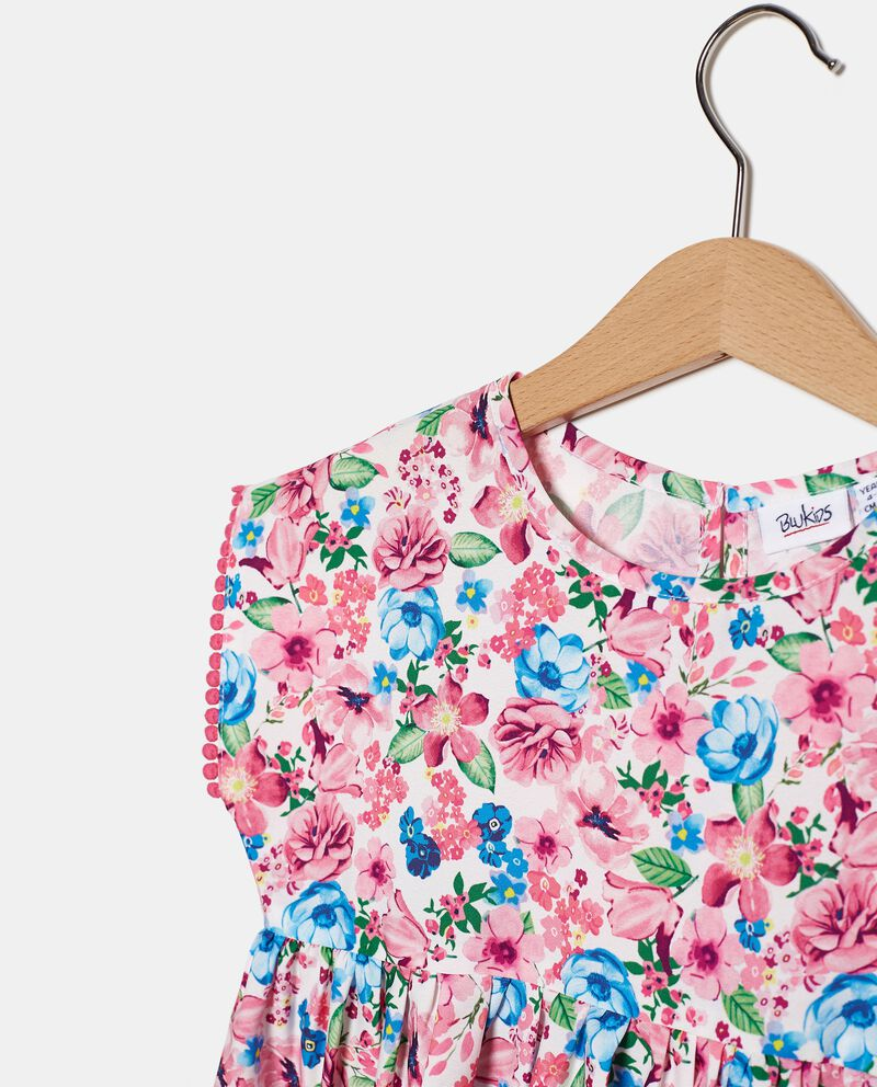 Top stampa all over in cotone bambina