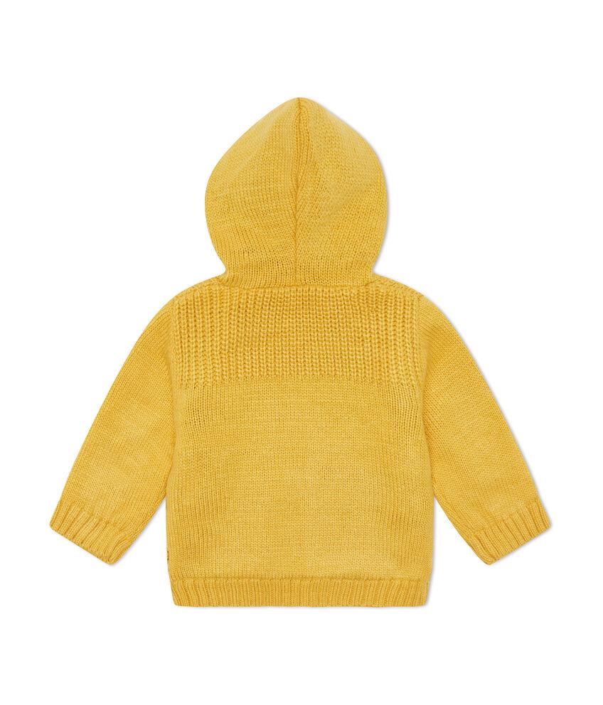 Giubbino lavorato tricot con cappuccio