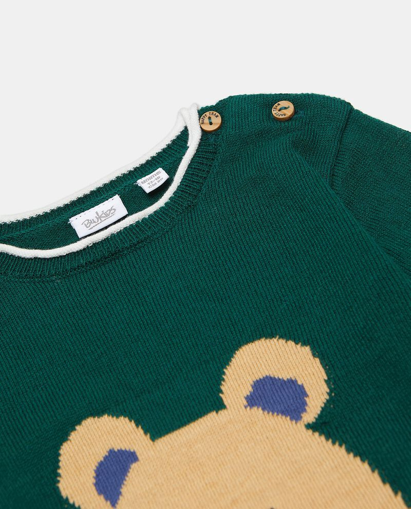 Maglioncino con orsetto sul fronte neonato