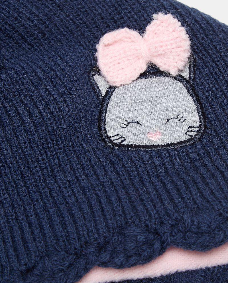 Berretto in maglia con pon pon neonata single tile 1