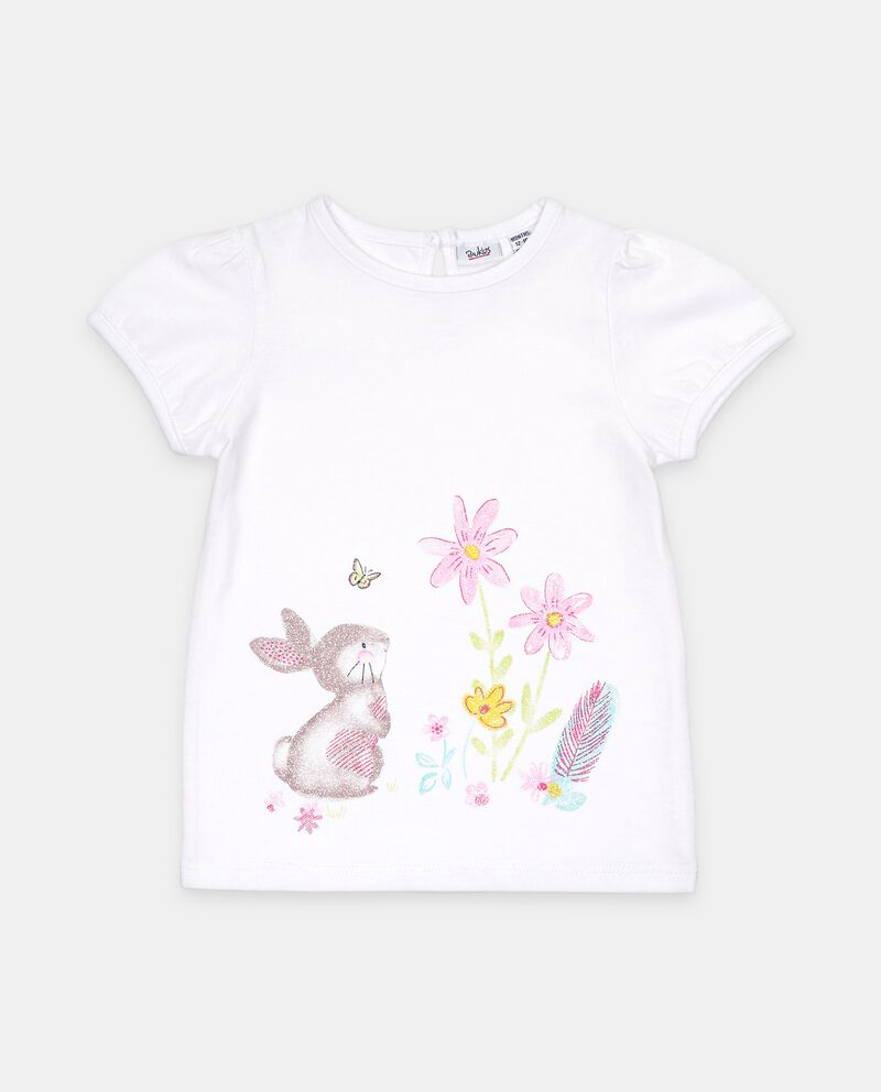 T-shirt stampata di cotone organico neonata