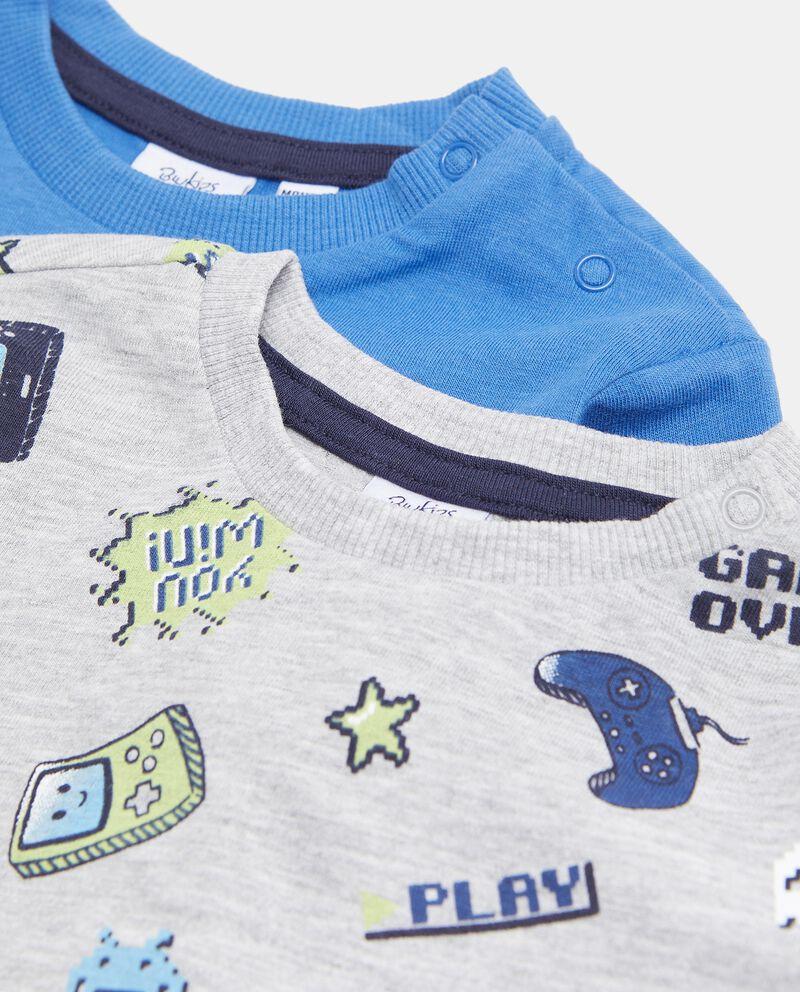 Bipack maglie di puro cotone biologico neonato