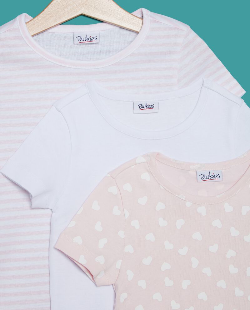Set t-shirt tinta unita e fantasia bambina