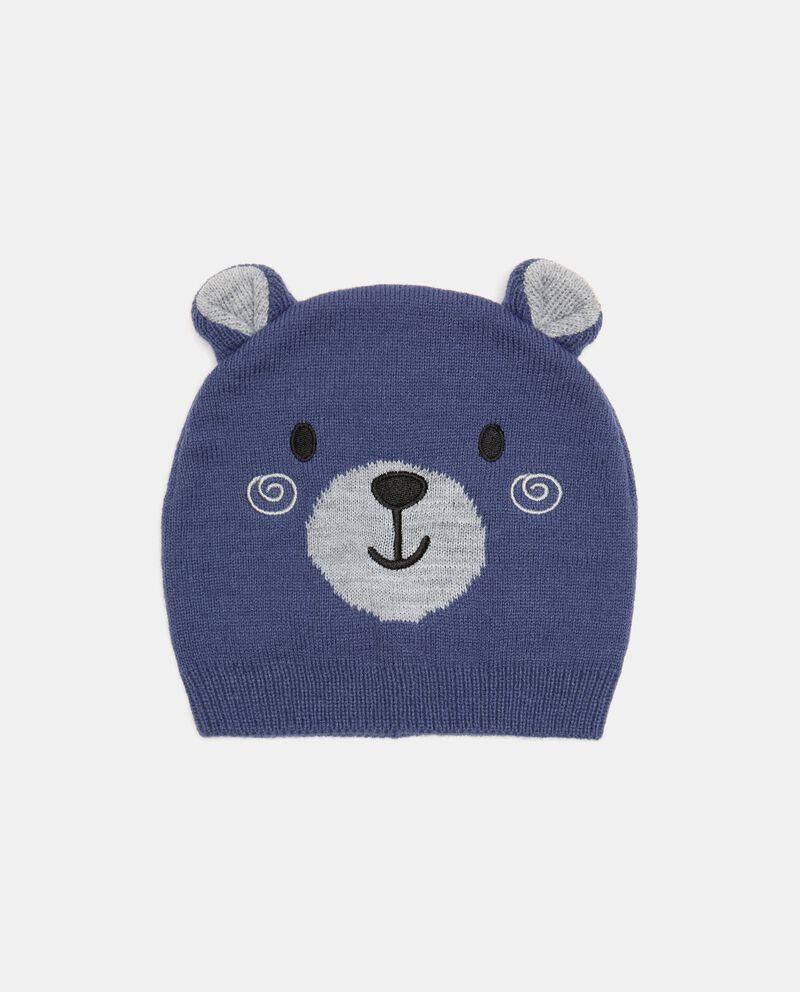 Berretto tricot orso neonato cover