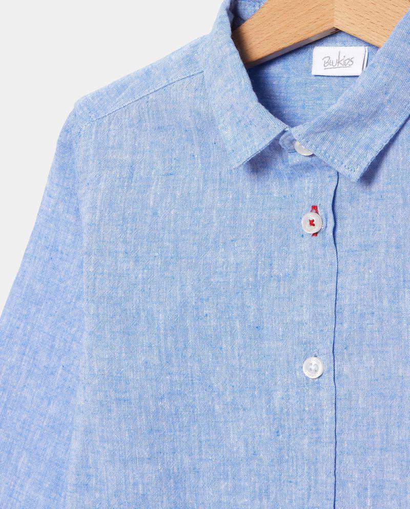 Camicia in cotone misto lino bambino single tile 1