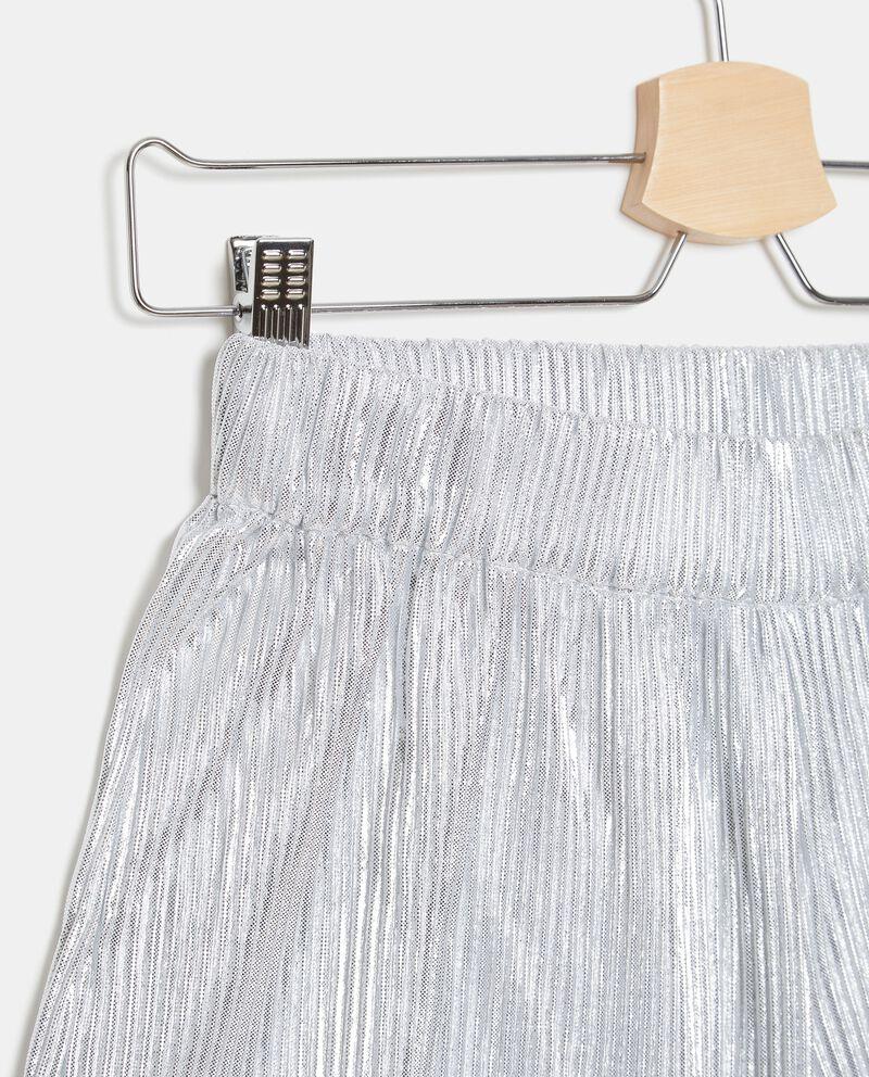 Shorts metallizzati plissé ragazza single tile 1