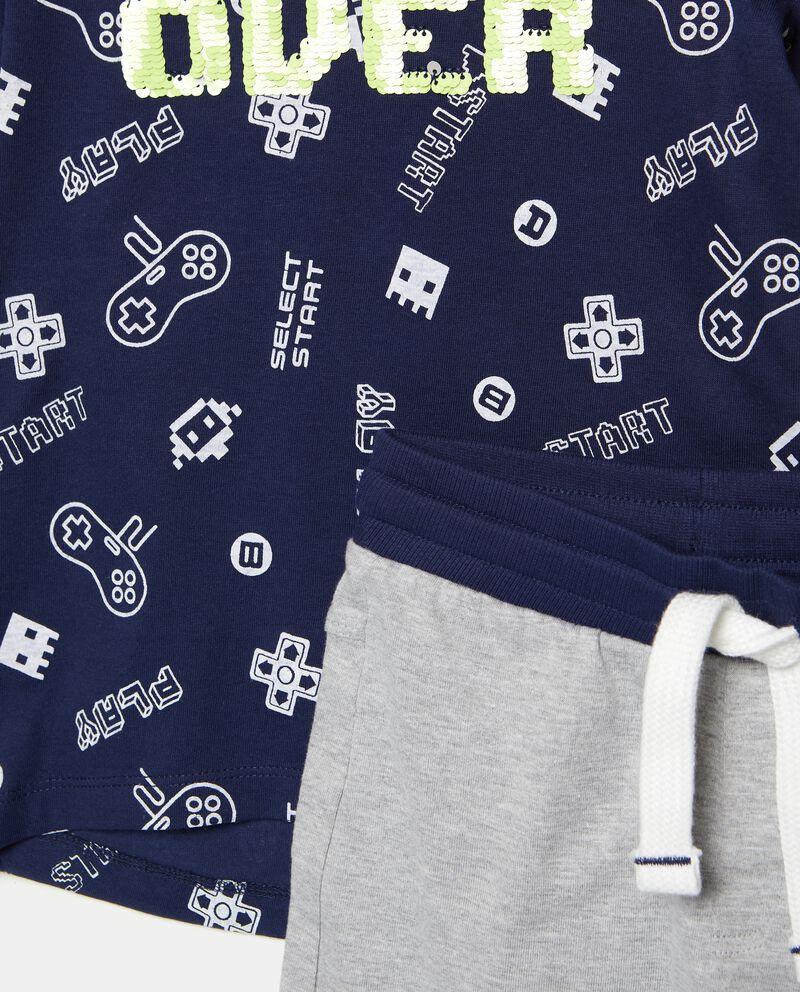 Set jogging con t-shirt e bermuda stampati bambino
