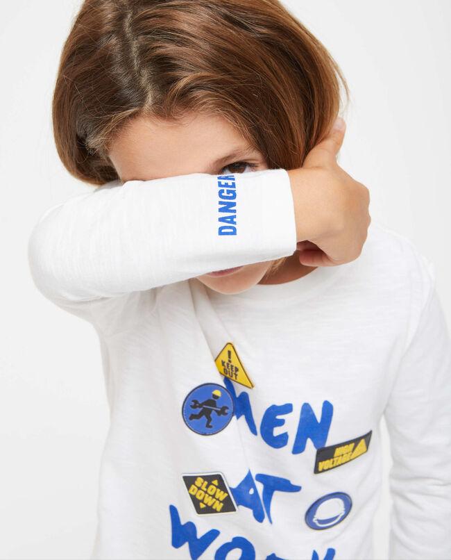 T-shirt maniche lunghe con lettering