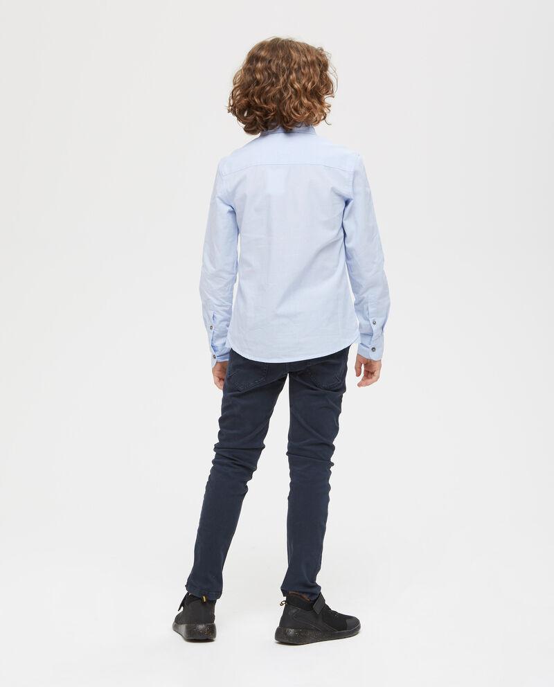Camicia cotone tinta unita