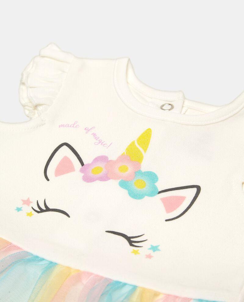 Vestitino in cotone con velo neonata