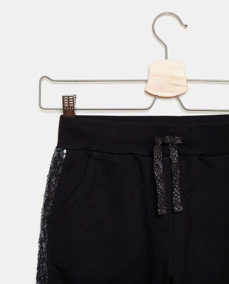 Pantaloni con bande in paillettes a contrasto ragazza