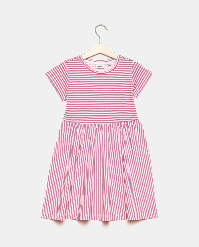 Vestito rigato in cotone organico bambina
