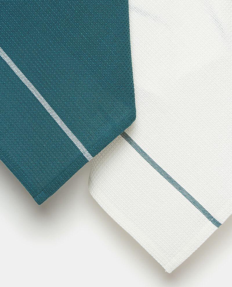 Set strofinacci in puro cotone con motivo a righe