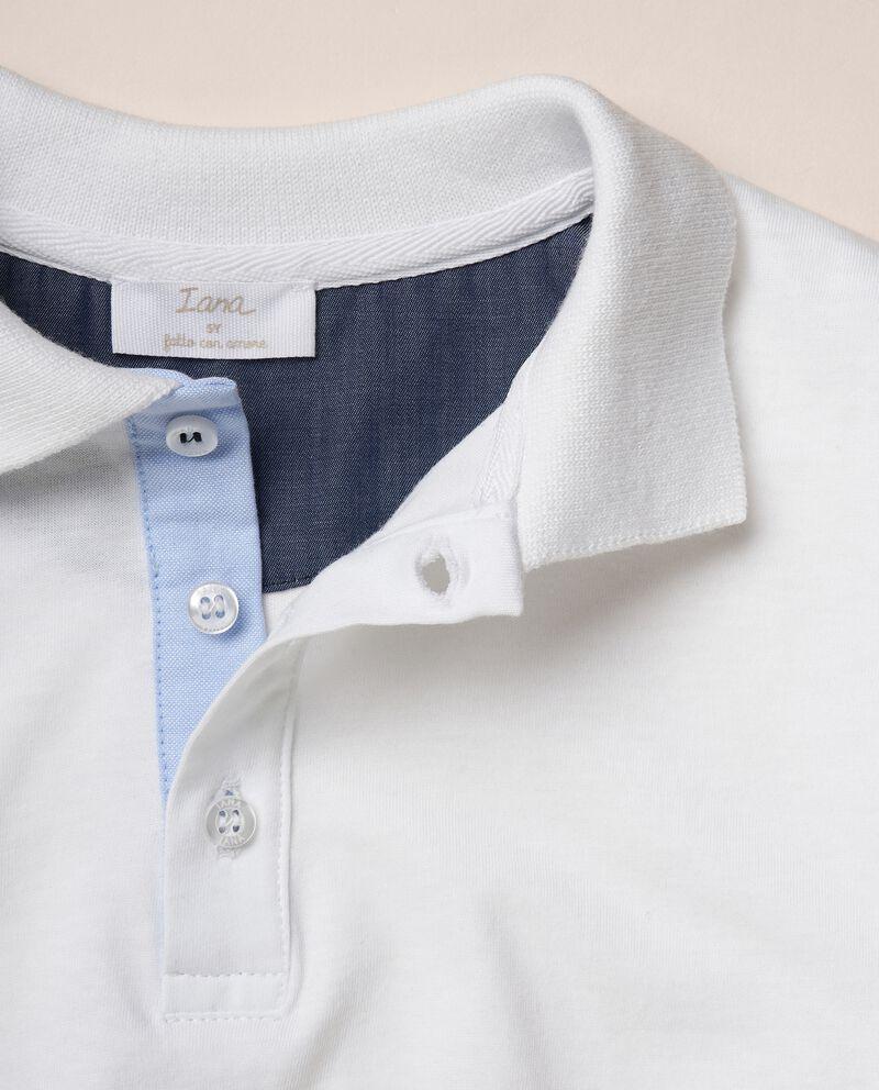 Polo con stampe in cotone organico jerseydouble bordered 1
